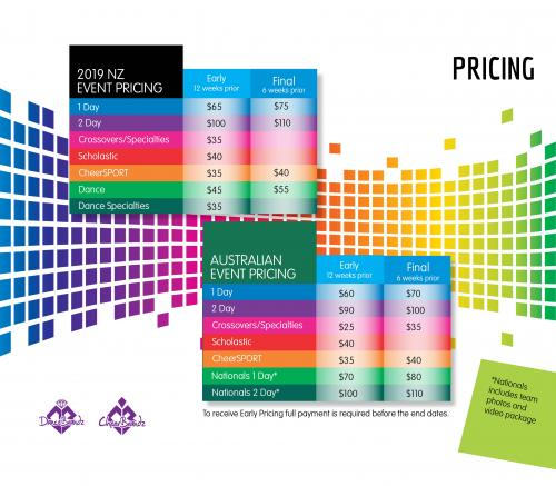 2019 CheerBrandz Pricing
